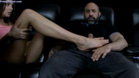 Elena Koshka – Movie Theater Footjob