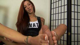 STEFANIA SWAT INVESTIGATION FOOTJOB – The Foot Fantasy!!!