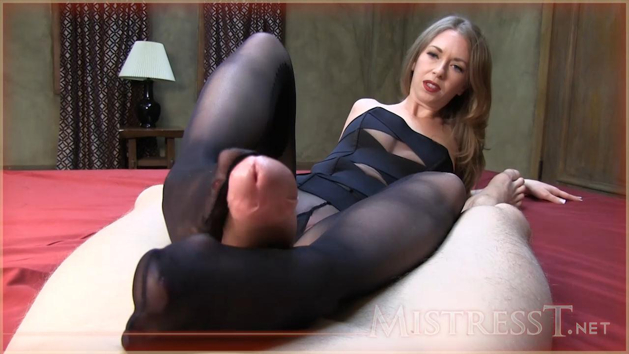 Pantyhose Footjob – Mistress – T_cover