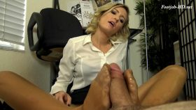 REAGAN LUSH BLACKMAILS YOU WITH A PANTYHOSE FOOTJOB TO WORK OVERTIME – The Foot Fantasy!!!