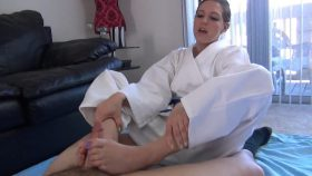 SADIE EARNS HER RED BELT :: KARATE FOOTJOB – Karate Domination