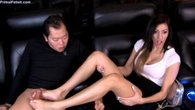Shavelle Love – Movie Theater Footjob – Primal's FOOTJOBS