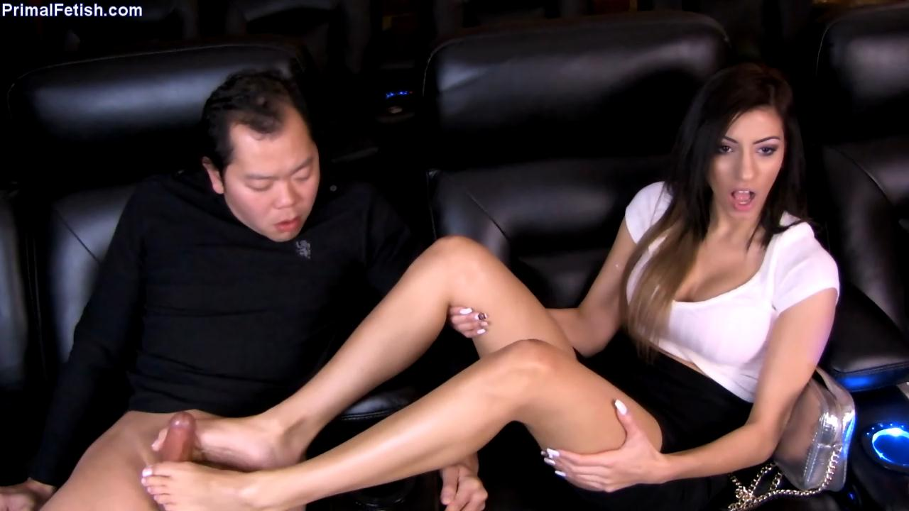 Shavelle-Love-Movie-Theater-Footjob-Primals-FOOTJOBS