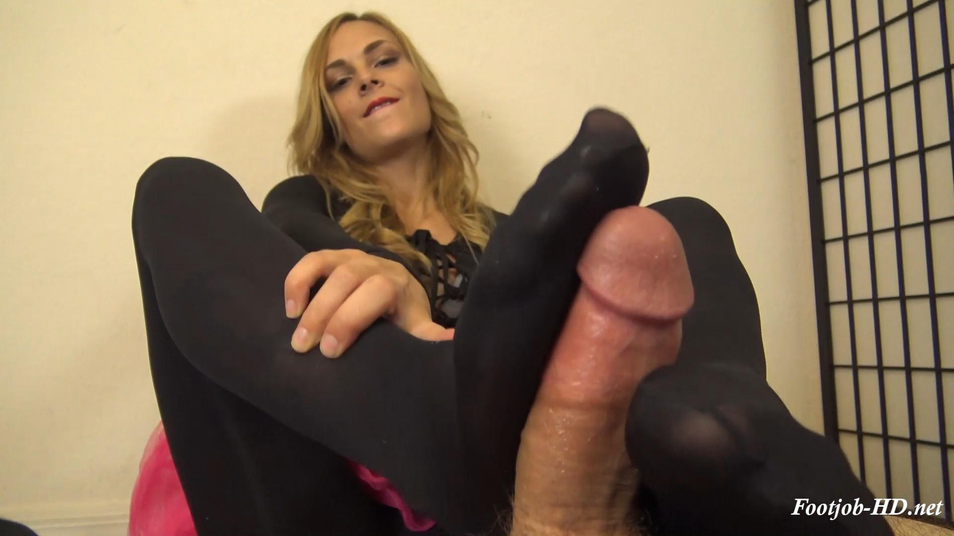 BALLERINA JENNY JETT'S BLACK TIGHTS FOOTJOB – The Foot Fantasy!!! – Jenny Jett