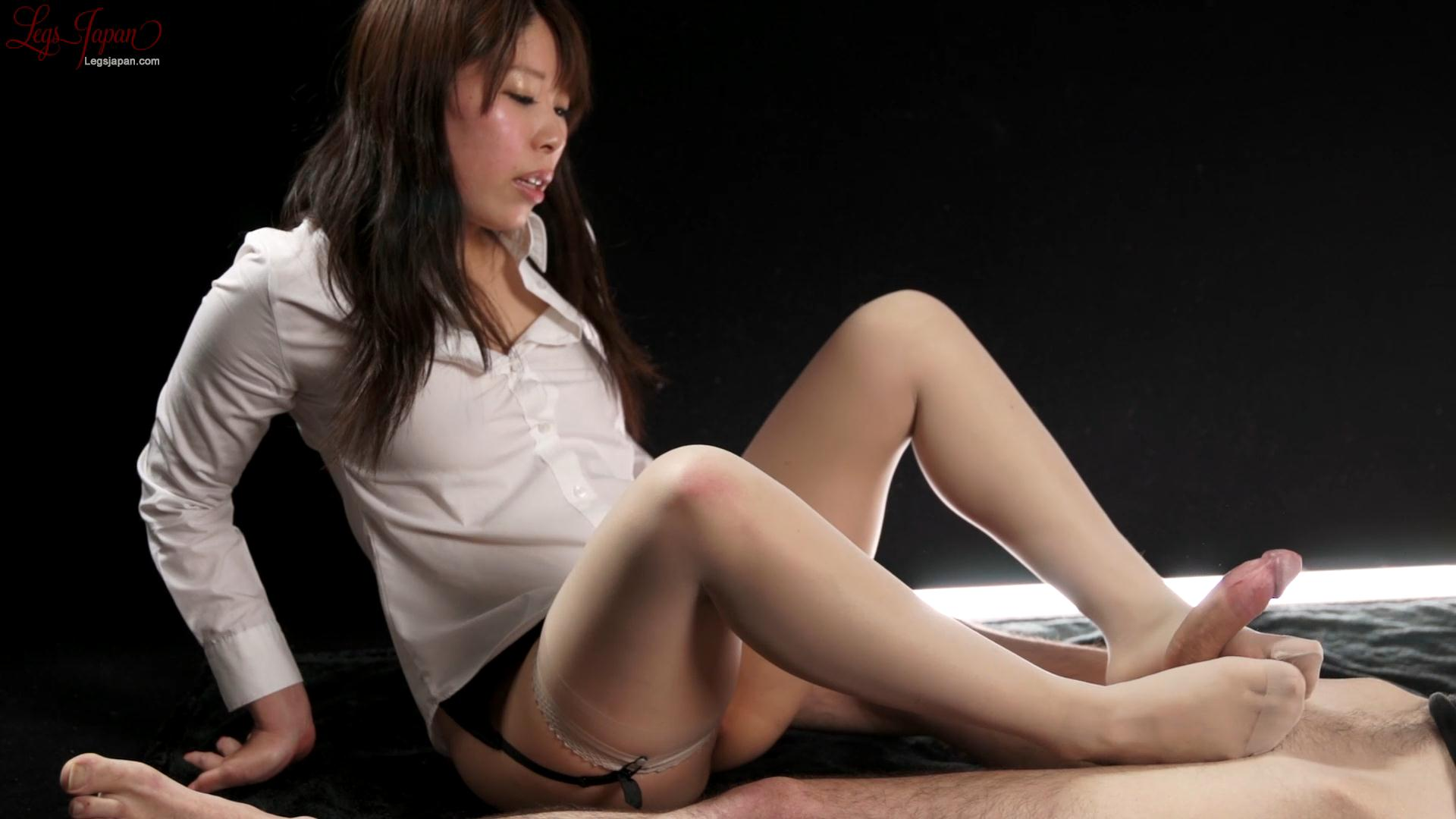 Blouse and Garter Stocking Footjob – Legs Japan – Ruru Sakurai