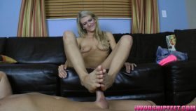 Long Toes Footjob!! – Barely Legal Foot Jobs – Amanda Tate