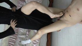 Net tights and footjob part2 – AC-footjob