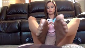 Ashley Sinclair Ignoring Footjob While Watching TV – Bratty Babes Own You