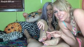 Two Girl FootJob BlowJob – Dakota Charms & Anabelle Pync – Anabelle Pync's Playground