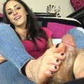 YOUR BRATTY & HOT SISTER CLEO GIVES YOU A FOOTJOB – The Foot Fantasy!!!