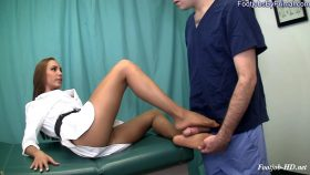 Dr. Sasha shows the orderly who is the boss – Primal's FOOTJOBS – Sasha Foxxx