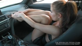 Footjob in car from hitchhiker – The Nylon Leg Fetish Store 720p
