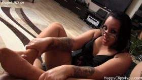 Nylon footjob handjob by Gina – Happy Clips 4 You