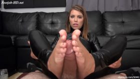 Secret Agent Adrianna Chechik Footjob – Bratty Babes Own You