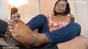 Charlie Rae's Ultimate FootJob BlowJob Treat – Ebony DivaSoles Footjobs