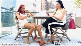 Public Lez Footjob Under The Table – Bratty Babes Own You – Stefania Mafra, Alexis Grace