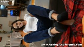 Sock Job For Loser Room Mate – Bratty Ashley Sinclair & Friends