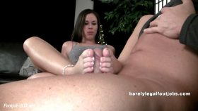 Aurianna's Full Scene! – Barely Legal Foot Jobs