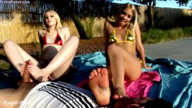 Khloe Kapri & Lily Rader – Dominate The Pool Boy Foot Job – Primal's FOOTJOBS