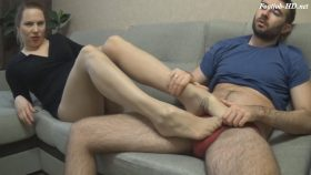 Pantyhose Encased Footjob 3 and handjob MOM and SON – Sexy Janin