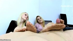 Lily Rader & Sierra Nicole – Pantyhose Secretary Domination Foot Job – Primal's FOOTJOBS