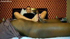 Interacial footjob in Miami – Louinheels