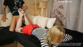 Helpful brother get footjob – The Nylon Leg Fetish Store