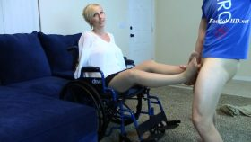 Blind Amputee Paraplegic Mom Footjob BJ – Brittany Lynn