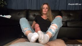Neighbors Stinky Sock Footjob – Kelly Monroe's First Footjob – Bratty Babes Own You