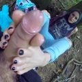 Angel Long Outside Footjob