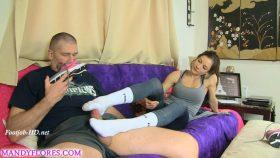 Foot Slave Sock Job – Mandy Flores