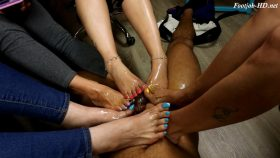 4 Girl Footjob Extravaganza! (Short version) – Joey's FeetGirls