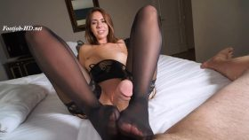 Ani Blackfox – Footjob with Stockings –  Kinkster3000
