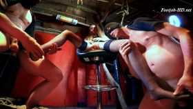 Young Leather Mistress – Submissive Foot Job – Fetish Fantasy Clips Zone