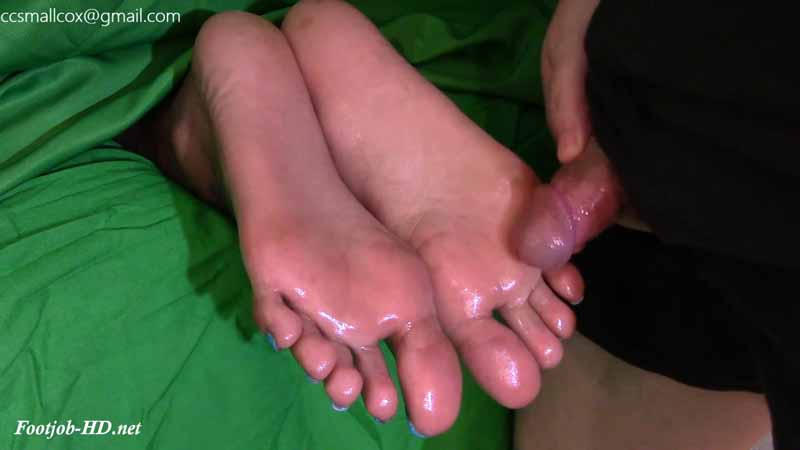 Ebony Soles Get A Sticky White Load – STICKY SOLES