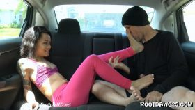 Holly Hendrix in Back Seat Footjob – Foot Fetish by Rootdawg25