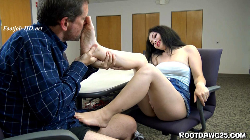 Lenna Lux in Office Foot Job - Foot Fetish by Rootdawg25