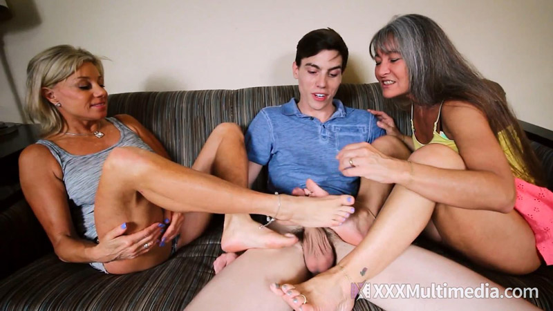A Double Footjob with Family and Friends – XXX Multimedia – Leilani Lei, Payton Hall