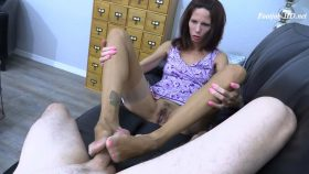 RHT Stockings + Hot Pink Toes Footjob – Arches, Toes, Heels, Soles
