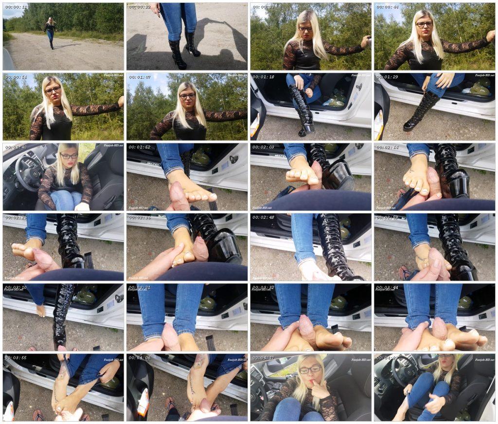 Outdoor Footjob in Lack Boots – Mariella Sun_scrlist
