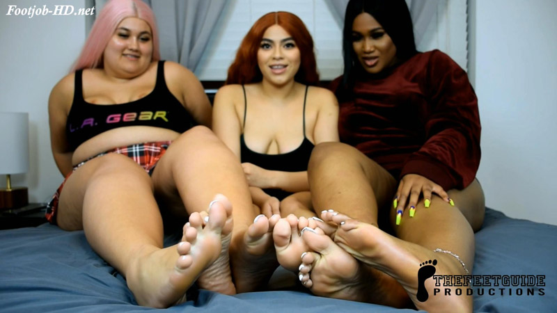 Triple White Footjob - TheFeetGuideTV