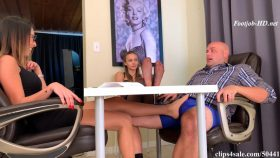 Ex Wife Makes Husband Cum In Pants Under The Table Wife Unaware – Bratty Babes Own You – Dava Foxx, Naomi Swann