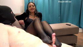 Sweaty pantyhose footjob – Mistress Ezada Sinn