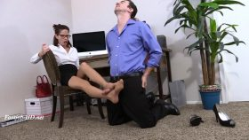 Secretary Karla's New Shoes Footjob – Arches, Toes, Heels, Soles