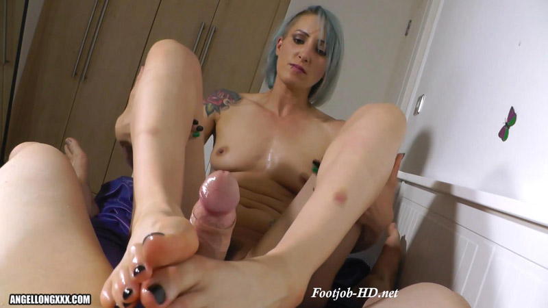 Let Me Use My Feet On Your Cock - Angel Long
