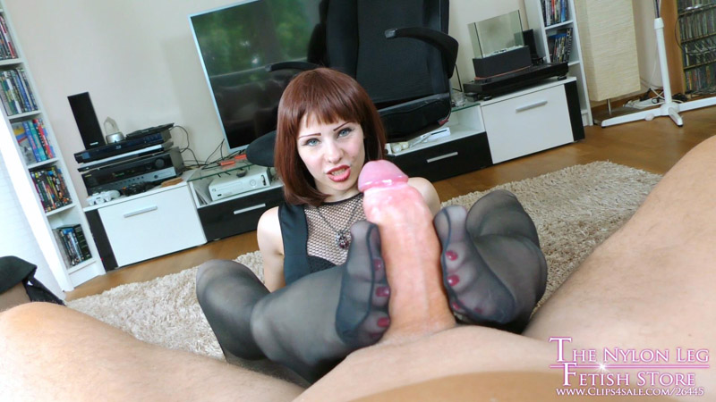Lurina job interview for the clipstore - The Nylon Leg Fetish Store