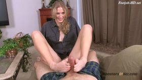 Hot Blonde POV Footjob – Monsters Of Jizz