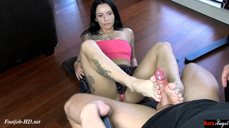 Footjob with Sweaty Stinky Feet – Jason Stromms Footjobs and Blowjobs – Kora Angel