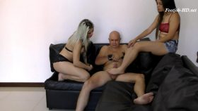 Lucy And Manuela Make Footjob To Handcuffed Bastard – Latin Domination Goddesses