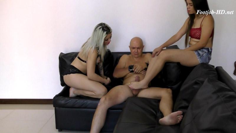 Lucy And Manuela Make Footjob To Handcuffed Bastard – Latin Domination Goddesses